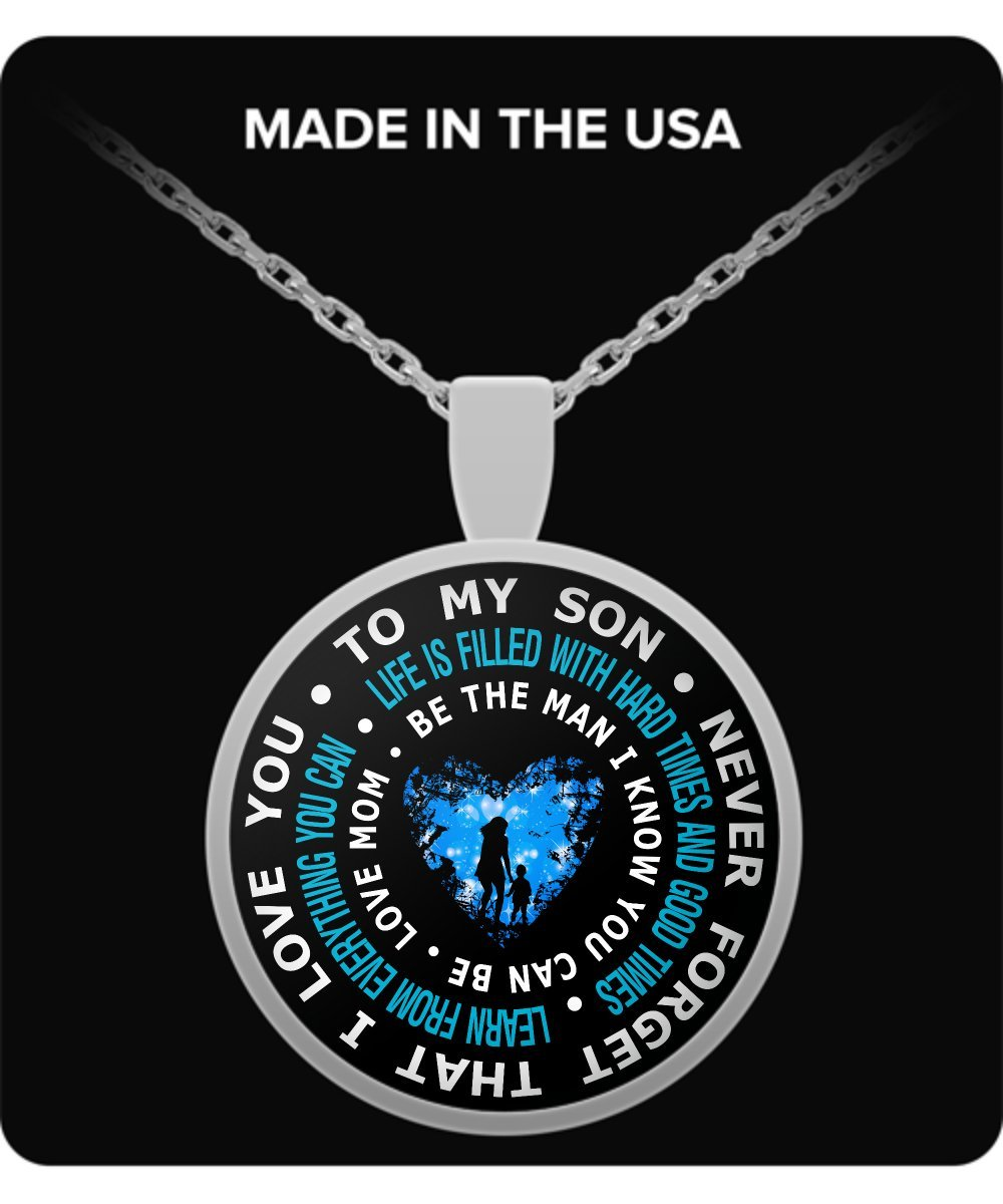 Amazon.com: Mother Son Necklace - To My Son Necklace - Gifts for ...