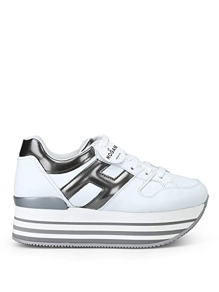Hogan Sneakers Maxi H222 HXW2830T548JDS4999 Bianco Donna  Amazon.it ... 543df59dc4c