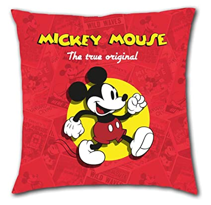Mickey Mouse Cojin 40x40cm de Mickey Classic, Única: Amazon ...