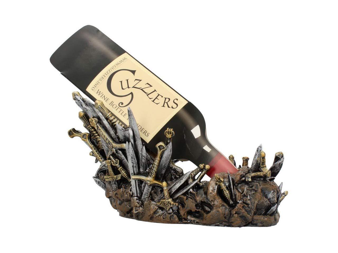 Weird Or Wonderful Guzzler Wine Bottle Holder - Swords - Novelty Gift Present Alcohol Kitchen Accessory Rack Medieval GoT Games Of Thrones
