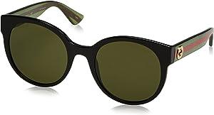 Gucci Womens Women's Gg0035s 54Mm Sunglasses, Black