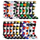 20-Pack, Over-the-Calf, Argyle Dress Socks, Golf Socks, Golf Knickers Socks From GolfKnickers
