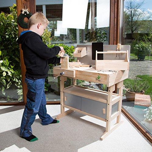 vente ultrakidz tabli pour enfant en bois massif 32 pices caisse outils et outillage brun. Black Bedroom Furniture Sets. Home Design Ideas