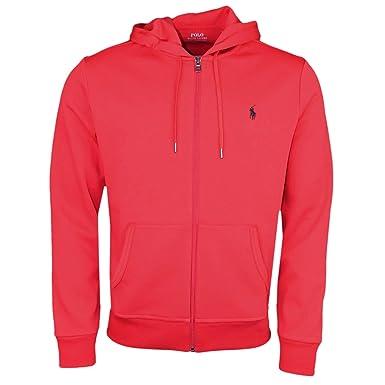 Ralph Lauren Veste zippée à Capuche Rouge pour Homme  Amazon.fr  Vêtements  et accessoires 416a521f559c