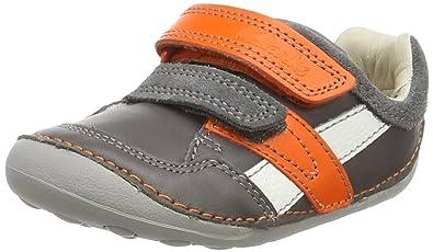 3710e38c18e7 Clarks Unisex Babies' Tiny Zakk First Shoes - Sneakers Grey Size: 2.5 Child  UK