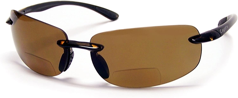 Coyote Eyewear BP-5 Rimless Polarized Reader Sunglasses