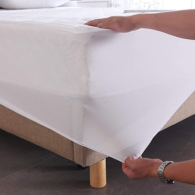 Aaf Textiles Mattress Protector King Quilted Polycotton Cover Extra Deep 30cm Hypoallergenic All Uk Sizes Hotel Quality King Amazon Co Uk Kitchen Home
