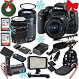 Canon EOS Rebel T6i Digital SLR Camera with Canon EF-S 18-135mm f/3.5-5.6 IS STM Lens + Canon EF-S 55-250mm f/4-5.6 IS STM Lens + 2pc SanDisk 32GB Memory Cards + Battery Grip