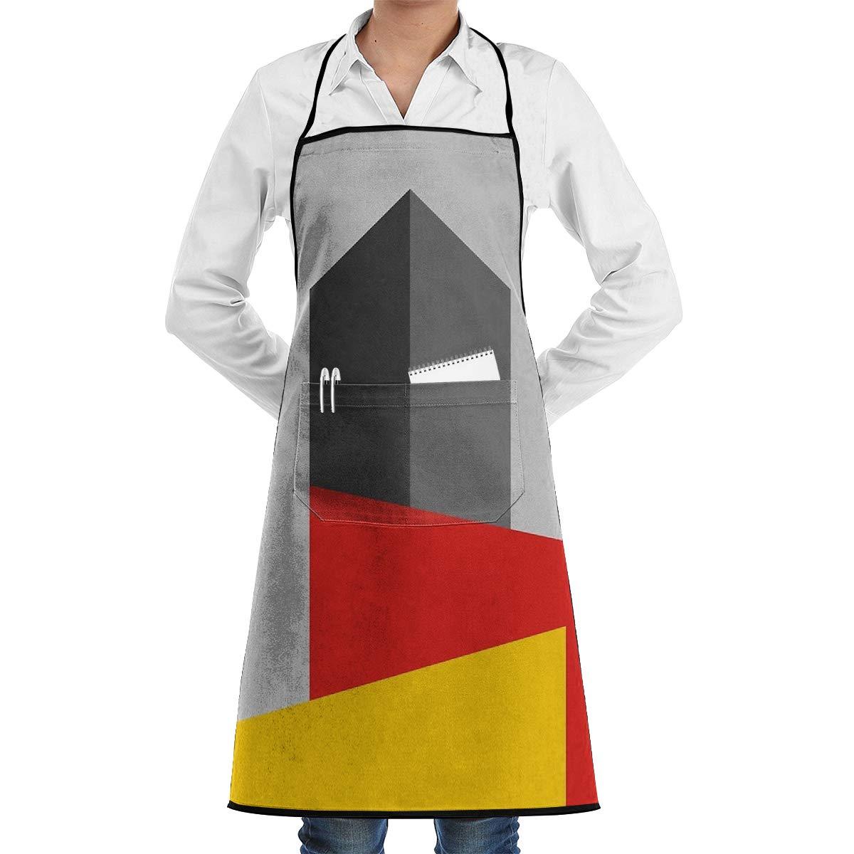 Ameok-Design Bauhaus Tower - Delantal de Cocina Unisex Ajustable ...