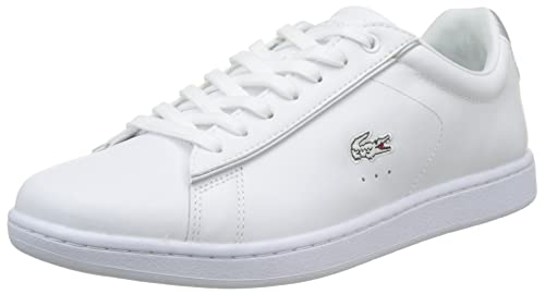 453873b518a7 Lacoste Womens White Light Grey Carnaby EVO 217 2 SPW Trainers-UK 5 ...