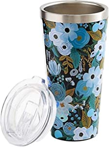 Corkcicle Rifle Paper Insulated Bottle, 47 cl, Garden Party (Blue)