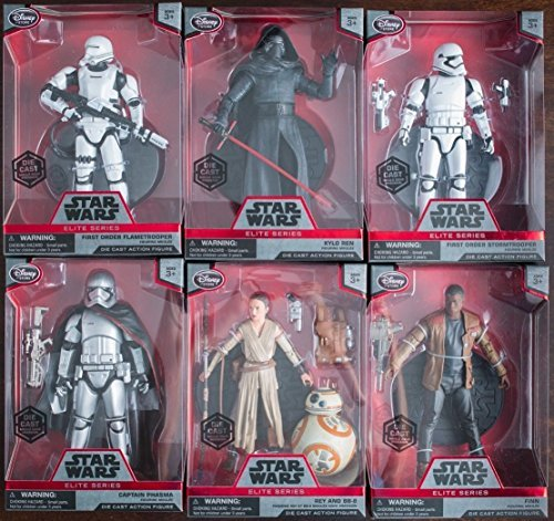 Star Wars The Force Awakens (Elite Series) Complete Set of 6.5