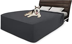 Easy-Going 100% Waterproof Fleece Bed Cover Washable Furniture Protector Cover Soft and Comfortable Fabric Reusable Incontinence Bed Under Pads for Pets Kids Children Dog Cat
