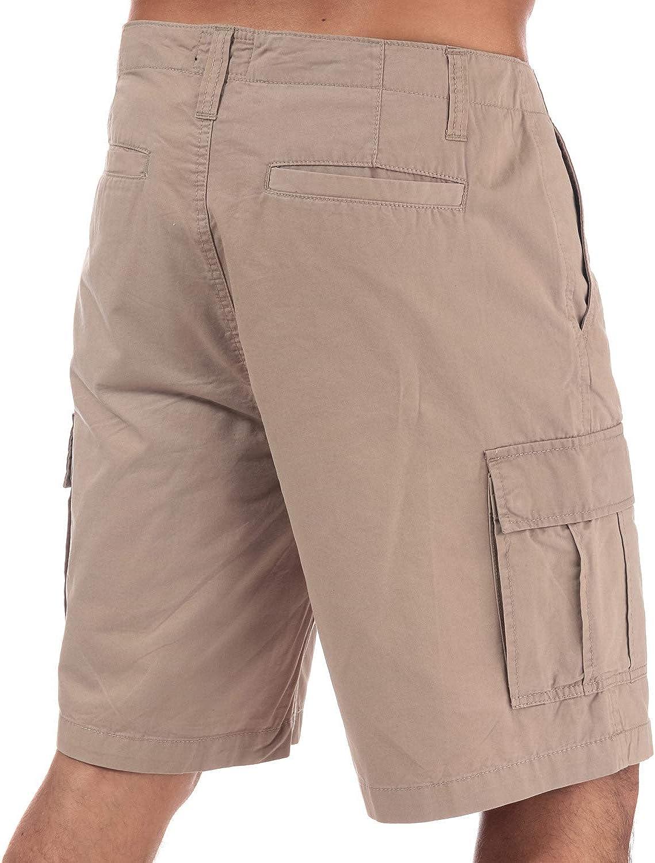 Zip Fly Mens Weekend Offender High Desert Twill Cargo Shorts In Stone Slip