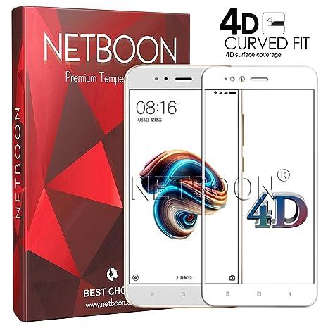 NETBOON® Premium Xiaomi Mi A1 4D Tempered Glass: Amazon in