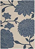 Safavieh Courtyard Collection CY7321-233A2 Beige and Blue Indoor/Outdoor Area Rug (8′ x 11′) For Sale