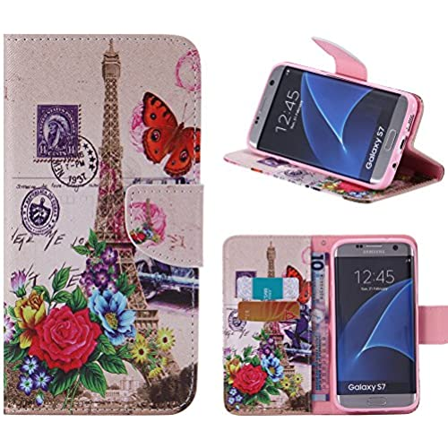 S7 Case, Galaxy S7 Case, Harryshell(TM) Tower Wallet Folio Leather Flip Case Cover with Card Holder for Samsung Sales