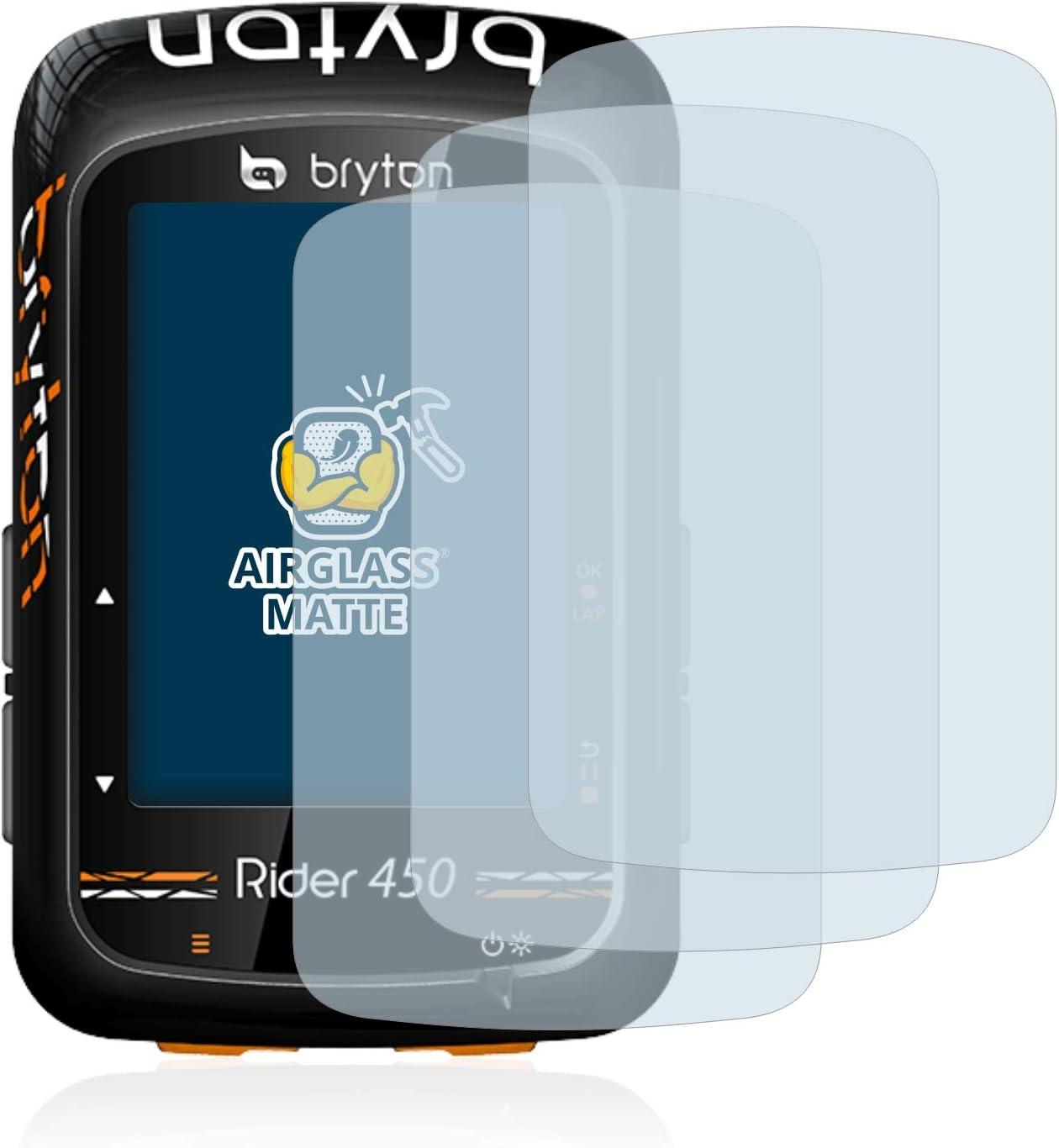 AirGlass brotect Protection Ecran Verre Compatible avec Bryton Rider 420 Film Protecteur Vitre 9H Anti-Rayures