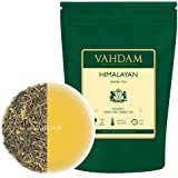 VAHDAM, Green Tea Leaves from Himalayas (50 Cups), 100% Natural Tea, Powerful Anti-OXIDANTS, Brew Hot Tea, Iced Tea or Kombucha Tea, Green Tea Loose Leaf