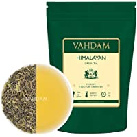 VAHDAM, Green Tea Leaves from Himalayas (50 Cups), 100% Natural Tea, Powerful Anti-OXIDANTS, Brew Hot Tea, Iced Tea or Kombucha Tea, Green Tea Loose Leaf