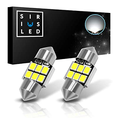 SIRIUSLED 2835 Chipset Extremely Bright Canbus Festoon 1.1 inch 28mm LED Trunk Cargo Courtesy Light Bulb Size DE3021 DE3022 400 lumen pure white 6000k Pack of 2: Automotive