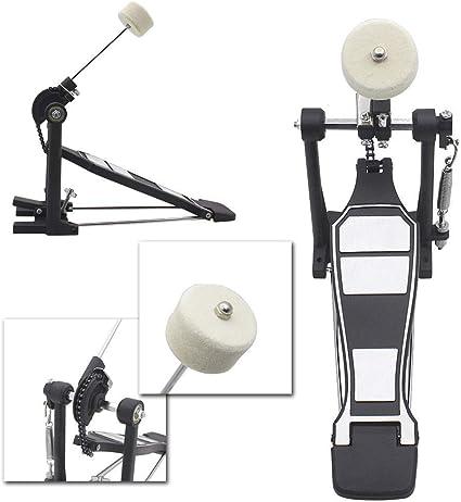 Aluminum Alloy Drums Set Pedal Single Bass Foot Kick Percussion Chain Drive Single Bass Drum Pedal
