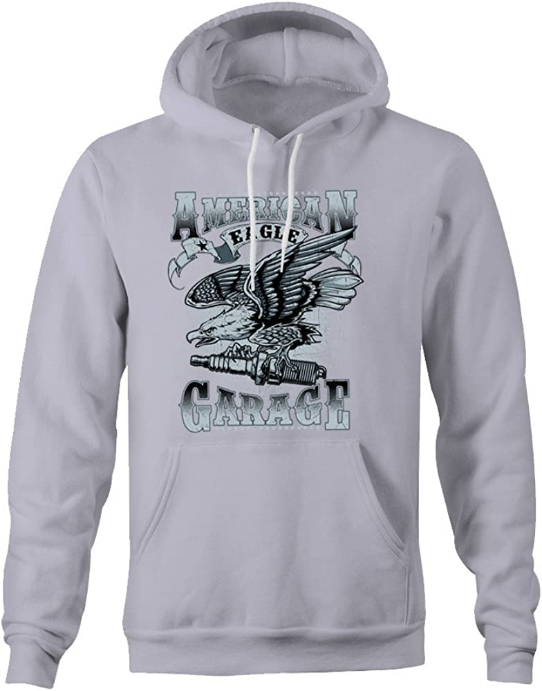 Merch Kingdom American Eagle Garage Hoodie - Grey - XX-Large ...