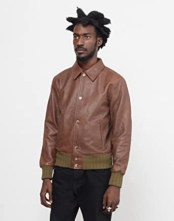 c5b3d99d7 Levi's Vintage Clothing Strauss Leather Jacket Brown - Brown - M ...