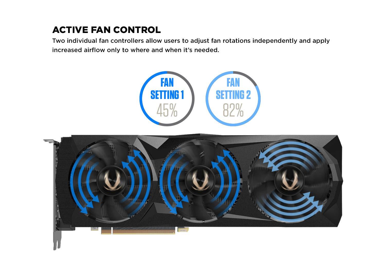 ZOTAC GAMING GeForce RTX 2080 Ti AMP 11GB GDDR6 352-bit SPECTRA RGB LED  Metal Backplate Graphics Card - ZT-T20810D-10P