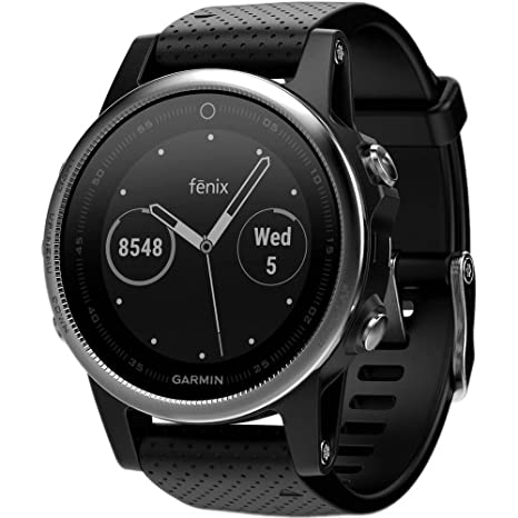7e47957408 Garmin Fenix 5S Multisport GPS Watch with Outdoor Navigation and  Wrist-Based Heart Rate - Silver with Black Band  Amazon.co.uk  Electronics