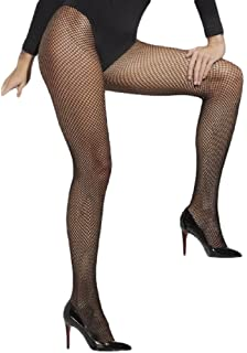 000b7fb49 Ladies Sexy Black White or Red Fishnet Tights Fever Fancy Dress Costume
