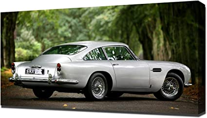 Amazon De Lilarama 1964 Aston Martin Db5 V13 Art Leinwandbild Kunstdrucke Gemälde Wandbilder
