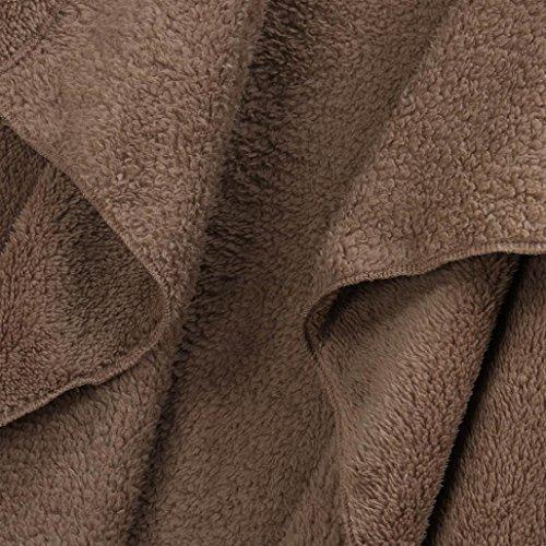 larga de de lana prendas abrigo exteriores Suéteres de de de rebeca Caqui Internet vestir punto oveja con la Manga Escudo 8Ixnt0n
