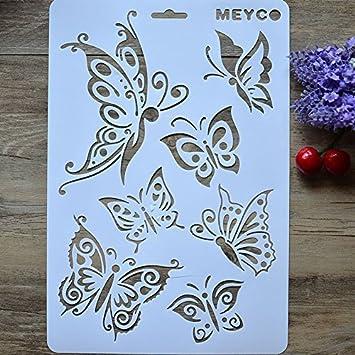 MI Mariposa aerosol patrones torta molde ambientales herramientas para hornear * 1: Amazon.es: Hogar