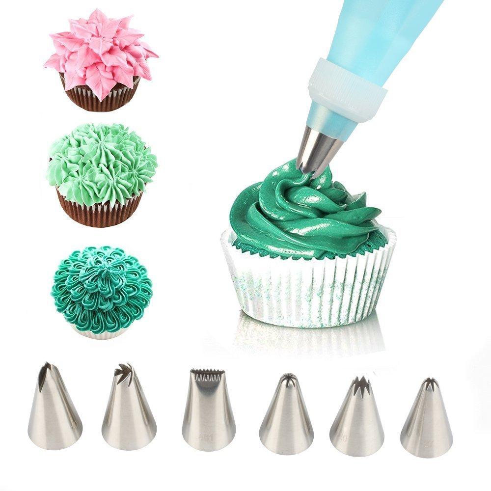Kitchen Cake Decorating Supplies, iMissiu 16 Pieces Stainless Steel DIY Decorating Pen Tool Kit