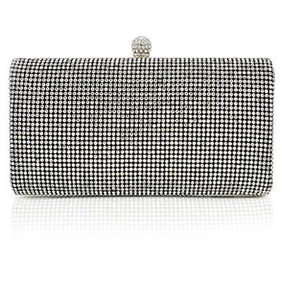 ILILAC Box Clutch Crystal Evening Bag
