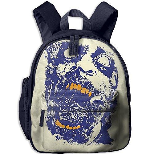 Halloween Vector Zombie Face Kids School Backpack Bookbag Adjustable Shoulder Straps Bag (Halloween Zombies Vector)