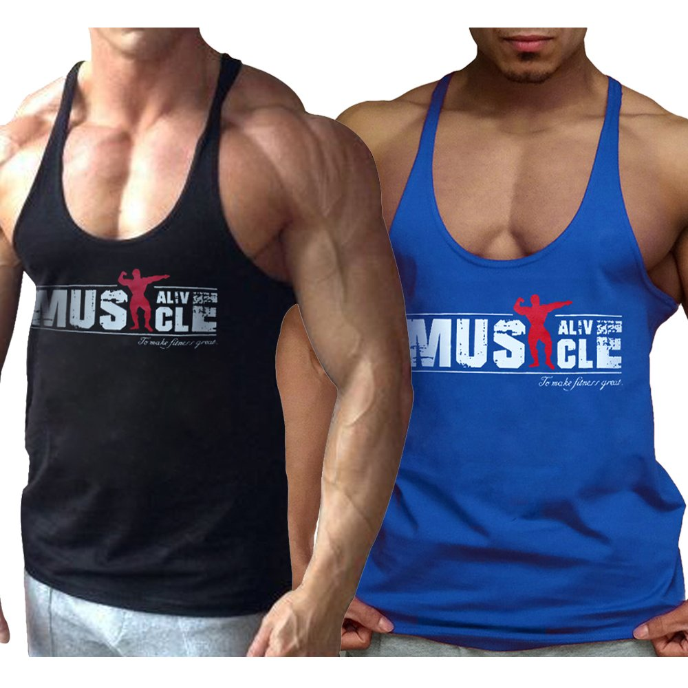 Alivebody Mens Athletic Tank Top Bodybuilding Sleeveless Tees