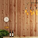 Blooming Wall Textued Wood Plank Log Wallpaper for Rolls Home Decoration,57 Sq. Ft/Roll, (98702)