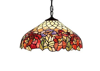 Tiffany Creative Lámpara colgante de techo, Lámpara de ...