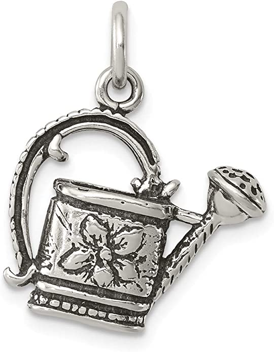 18 LavaFashion Sterling Silver Enameled Watermelon Slice Charm Necklace