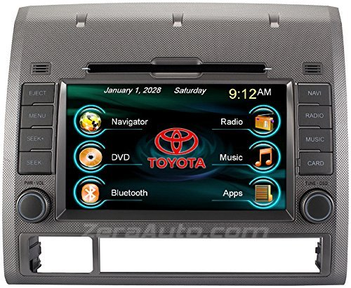 2005-2012 Toyota Tacoma In-Dash GPS Navigation Stereo DVD CD Player FM AM Radio 7 Inch Touchscreen Bluetooth AV Receiver USB SD iPod iPhone Install Ready Multimedia Deck OEM Replacement Head Unit by Zera Navigation