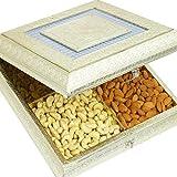 Ghasitaram Gifts Diwali Gifts Diwali Dry fruits - Big Silver Minakari Dryfruit Box B-2