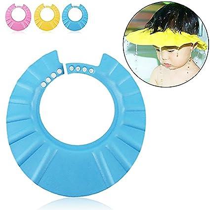Gorro Ducha para Beb/é Sombrero Ajustable del Ba/ño Champ/ú Casquillo Infantil Suave Creativo Animado para Ni/ños para Lavarse el Pelo Amarillo