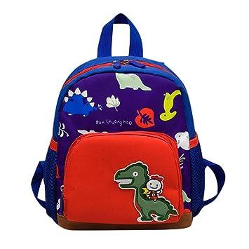 0d71a68ac622 Cute Kids Bag Dinosaur Pattern Cartoon Backpack Toddler School Bag (Dark  Blue)