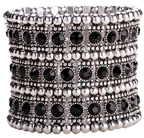 Black And Crystal Cuff - 3
