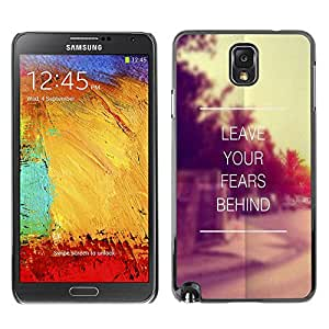 iBinBang / Funda Carcasa Cover Skin Case - Deja tus miedos detrás de Vignette Sunset - Samsung Note 3 N9000 N9002 N9005