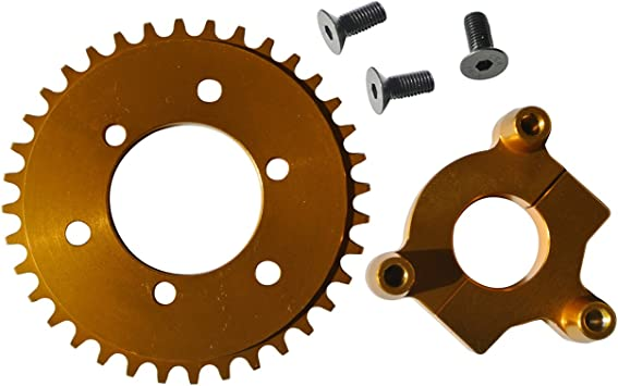 """CNC Gold 44T Sprocket /& 1.5/"""" Adapter Fits 60cc 66cc 80cc Motorized Bicycle USA"""