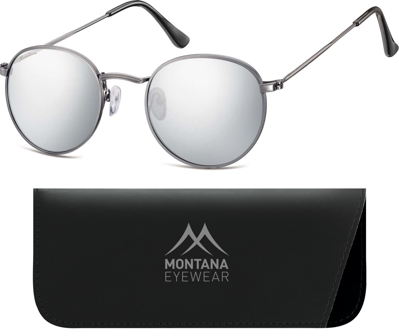 Montana MS92, Occhiali da Sole Unisex-Adulto, Multicoloured (Gunmetal/Revo Blue), Taglia unica
