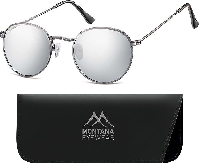 Montana Eyewear MS92-Dunkelgrau-Silber Verspiegelt f9WGbs5i